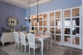 新古典 别墅 白领 四居 欧式 舒适 餐厅图片来自幸福空间在淡淡悠蓝的新古典华美内涵的分享