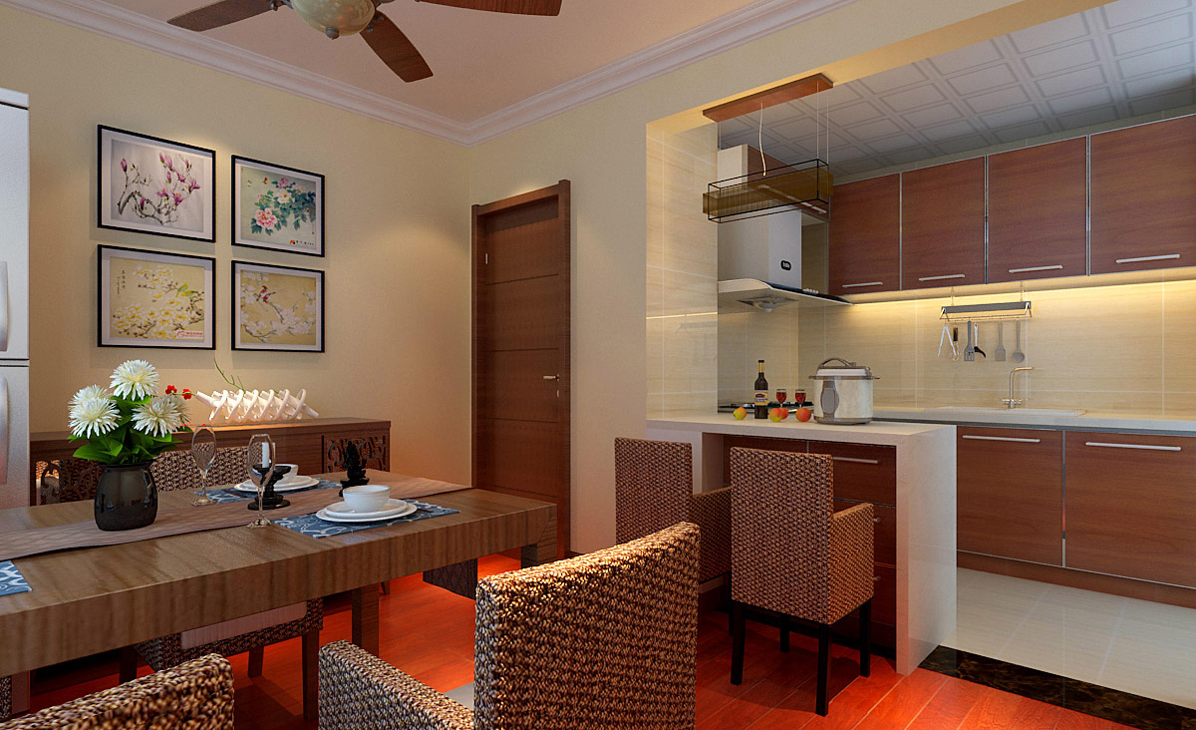 二居 80后 小资 东南亚风格 收纳 餐厅图片来自实创装饰都琳在15.5打造现代简约一居室的分享