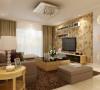 卓达三期-138平米现代简约装修设计-客厅效果图