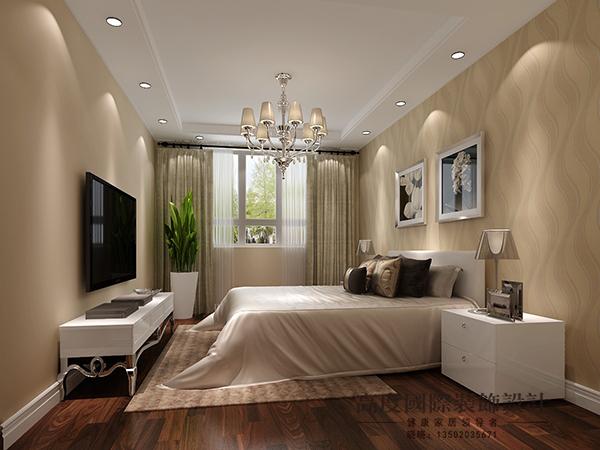 新中式 二居 白领 卧室图片来自天津高度国际装饰设计在盛瑞公寓~新中式的分享
