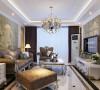 骏景家园-140平米欧式装修设计-客厅效果图