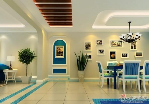 成都实创装饰—整体家装—120平米三居室—地中海风格—玄关装修效果图