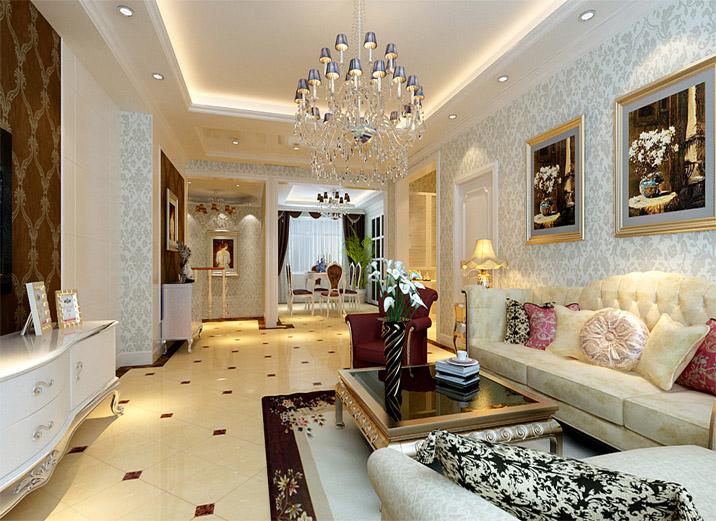 欧式 二居 三居 白领 收纳 80后 小资 客厅图片来自shichuangyizu在悦泽苑150平米富丽典雅的欧式的分享