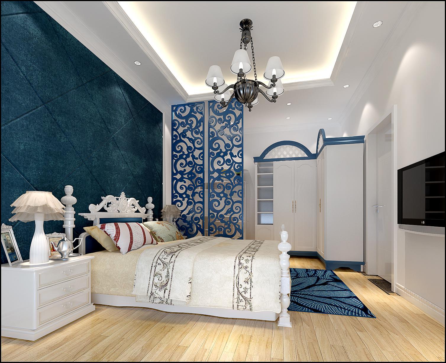 二居 白领 收纳 80后 小资 地中海 卧室图片来自shichuangyizu在梅兰居浪漫地中海的分享