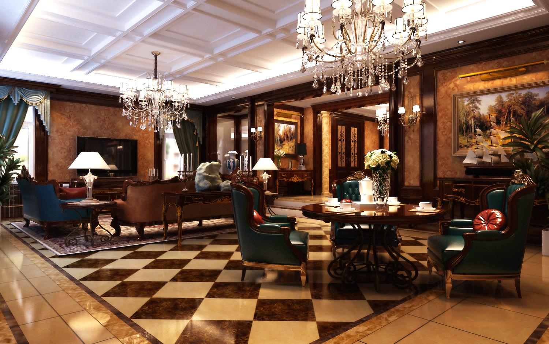 别墅 美式 欧式 奢华 客厅图片来自尚层装饰大林在伯爵府里的微笑--远洋天著的分享