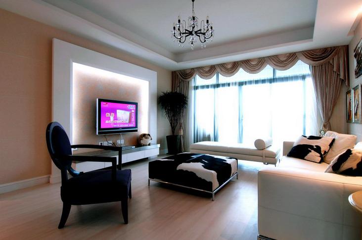 时尚简约风 当代清水园 二居 旧房改造 小资 客厅图片来自北京今朝装饰在当代清水园--时尚简约风的分享