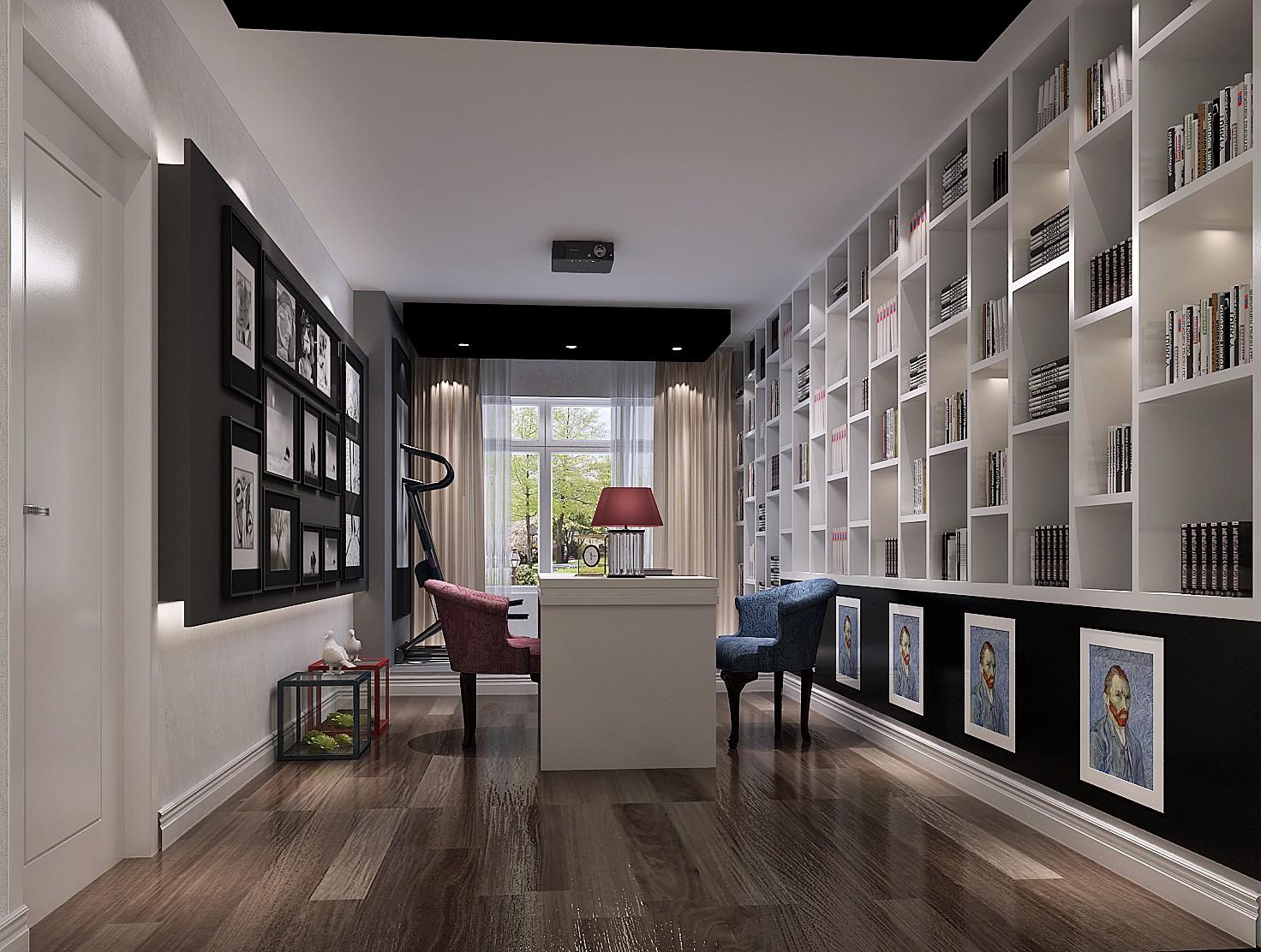 金科王府 高度国际 二居 三居 简约 现代 白领 80后 白富美 书房图片来自北京高度国际装饰设计在金科王府现代简约超凡脱俗的分享