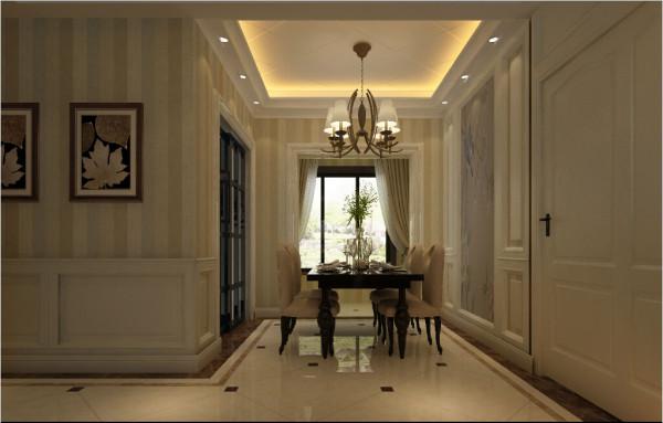郑州实创装饰-瀚海泰苑120平三居室-餐厅效果图