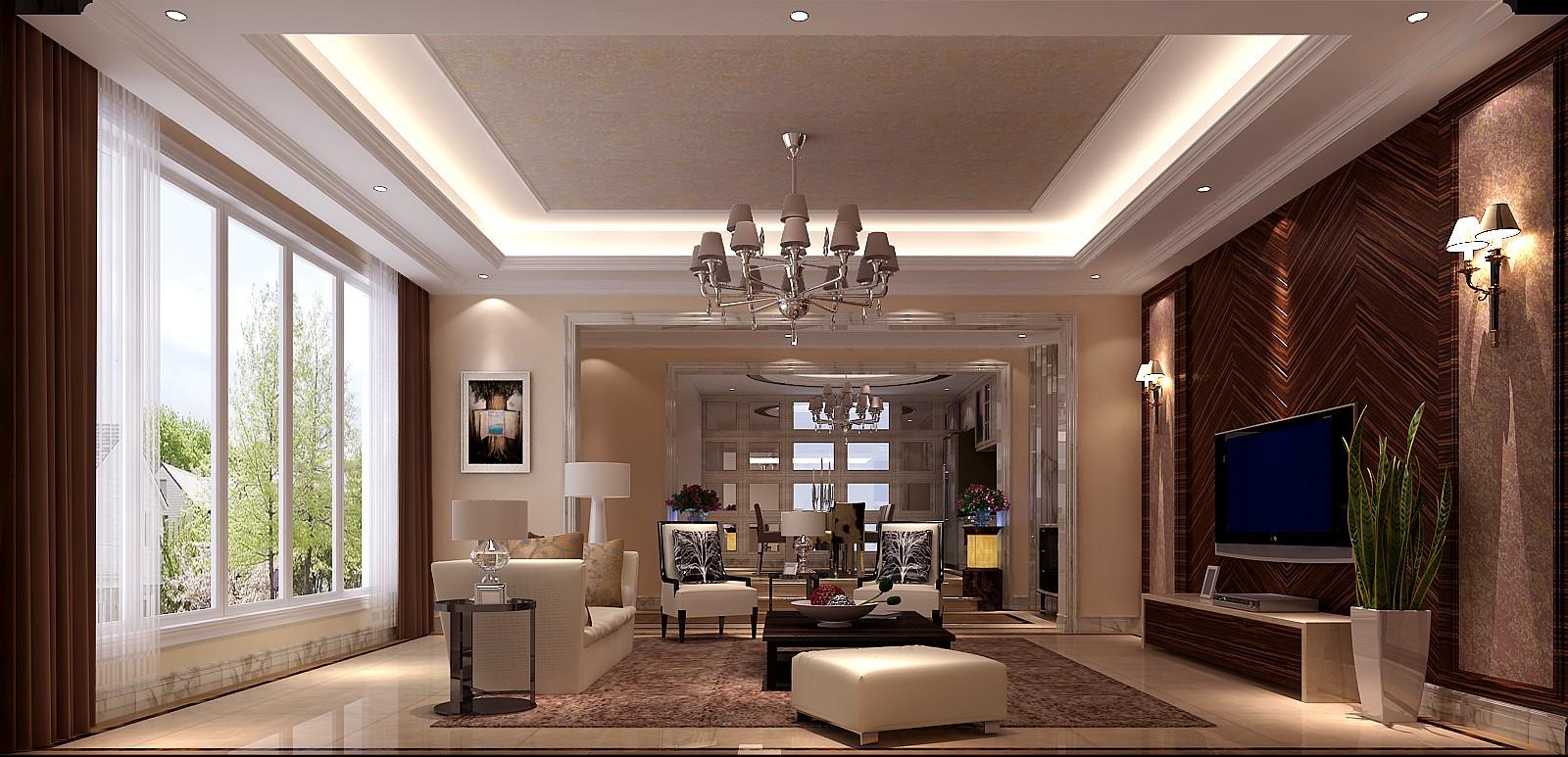 简约 欧式 别墅 小资 客厅图片来自高度国际装饰黄帅在粗狂也自然,简约更添亲切感的分享