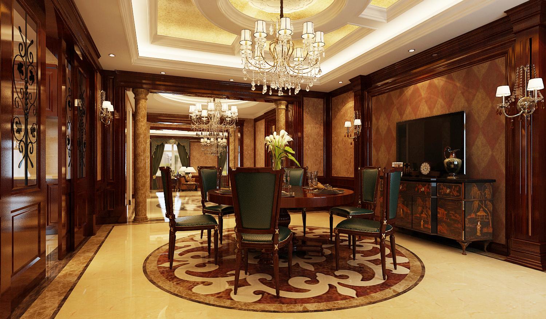 别墅 美式 欧式 奢华 餐厅图片来自尚层装饰大林在伯爵府里的微笑--远洋天著的分享