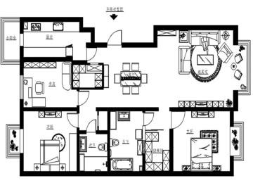 140平米美式田园家居设计