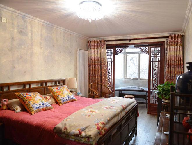 中式风格 学院路 老房改造 今朝装饰 两居室装修 卧室图片来自北京今朝装饰在中式风格装修---海淀区学院路的分享