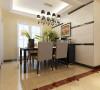 维多利亚-140平米现代简约装修设计-餐厅效果图