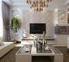 维多利亚-140平米现代简约装修设计-客厅效果图