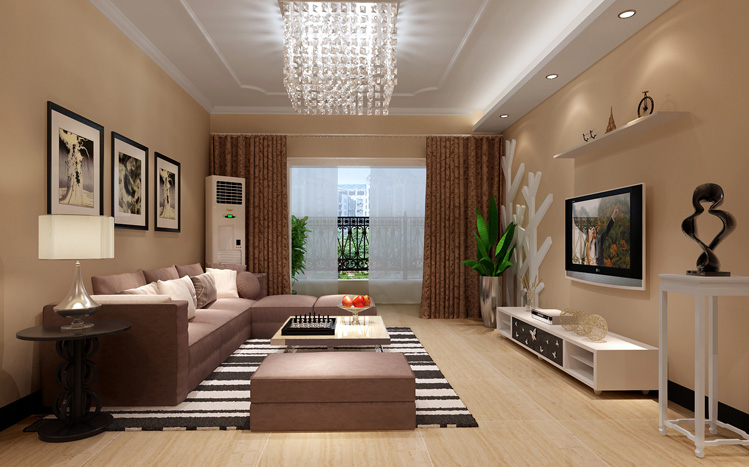 简约 客厅 二居 卧室 餐厅图片来自北京实创集团在石家庄实创装饰:现代简约风格的分享