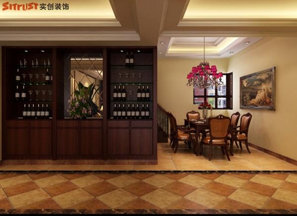 名门华都-158平米欧式装修风格-餐厅效果图