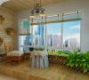瑞城-94平米现代简约装修-阳台效果图