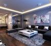 沙发旁整面拼镜的应用,既增加了空间的延展新,又提升了整个空间的光亮感。在落地灯的配搭下,共演美妙的光影之舞。