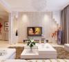 翰林颐园-118平米现代简约风格装修-客厅效果图