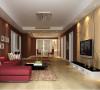 华府名邸-162平米现代简约装修设计-客厅效果图