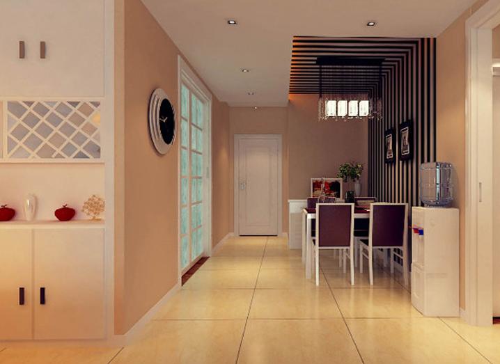 简约 二居 客厅 餐厅 卧室图片来自北京实创集团在珠峰国际的分享