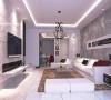 国际城-106平米现代简约装修-客厅效果图