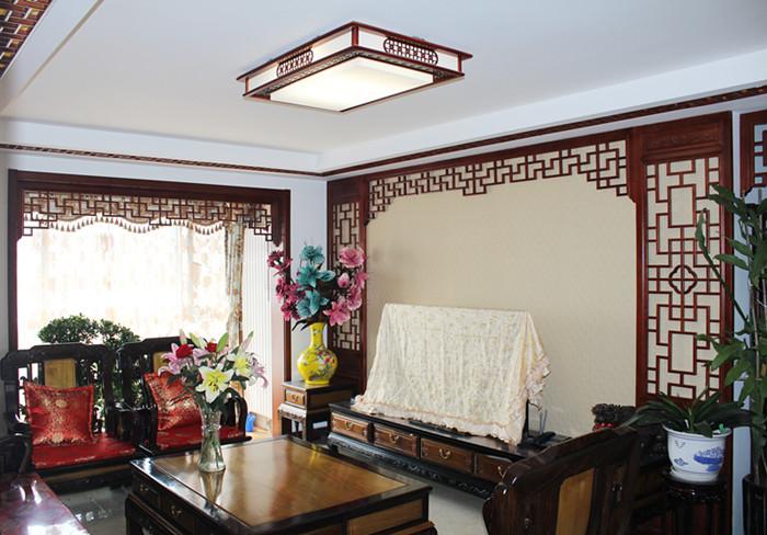 梧桐苑7号 中式风格 120平米新 今朝装饰 客厅图片来自北京今朝装饰在梧桐苑---中式风格装修的分享