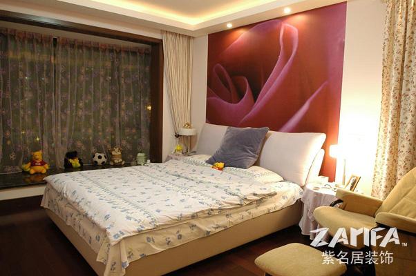 二居 乡村 装修案例 装修实景图 卧室图片来自紫名居装饰在大华锦绣华城的分享