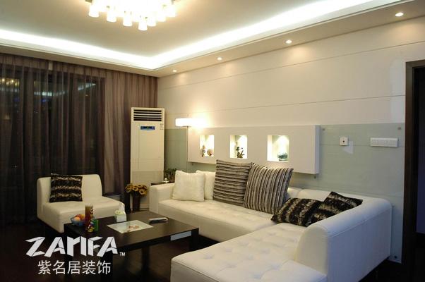 二居 乡村 装修案例 装修实景图 客厅图片来自紫名居装饰在大华锦绣华城的分享