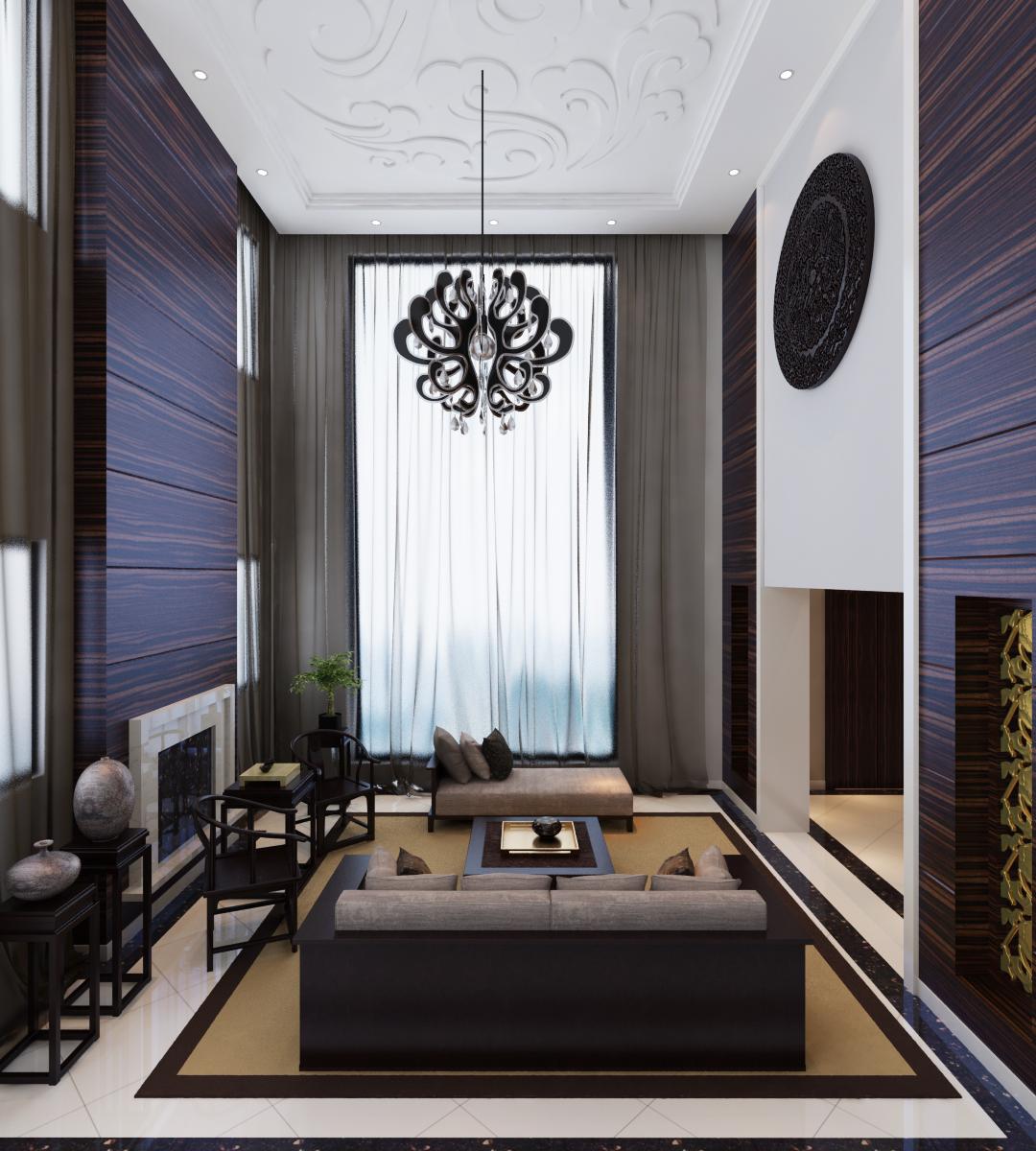 新中式 别墅装修 别墅设计 尚层装饰 客厅图片来自尚层别墅装饰在打破了中式风格传统色彩的分享