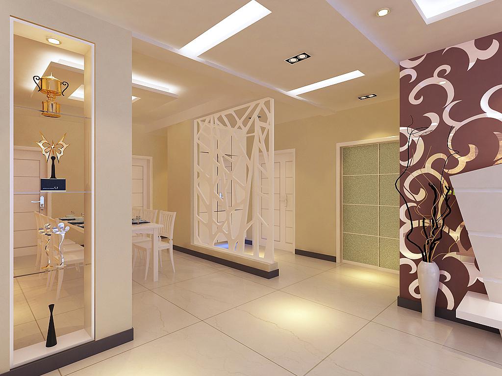 简约 玄关图片来自石家庄品界国际装饰在石家庄190平米现代旧房改造的分享