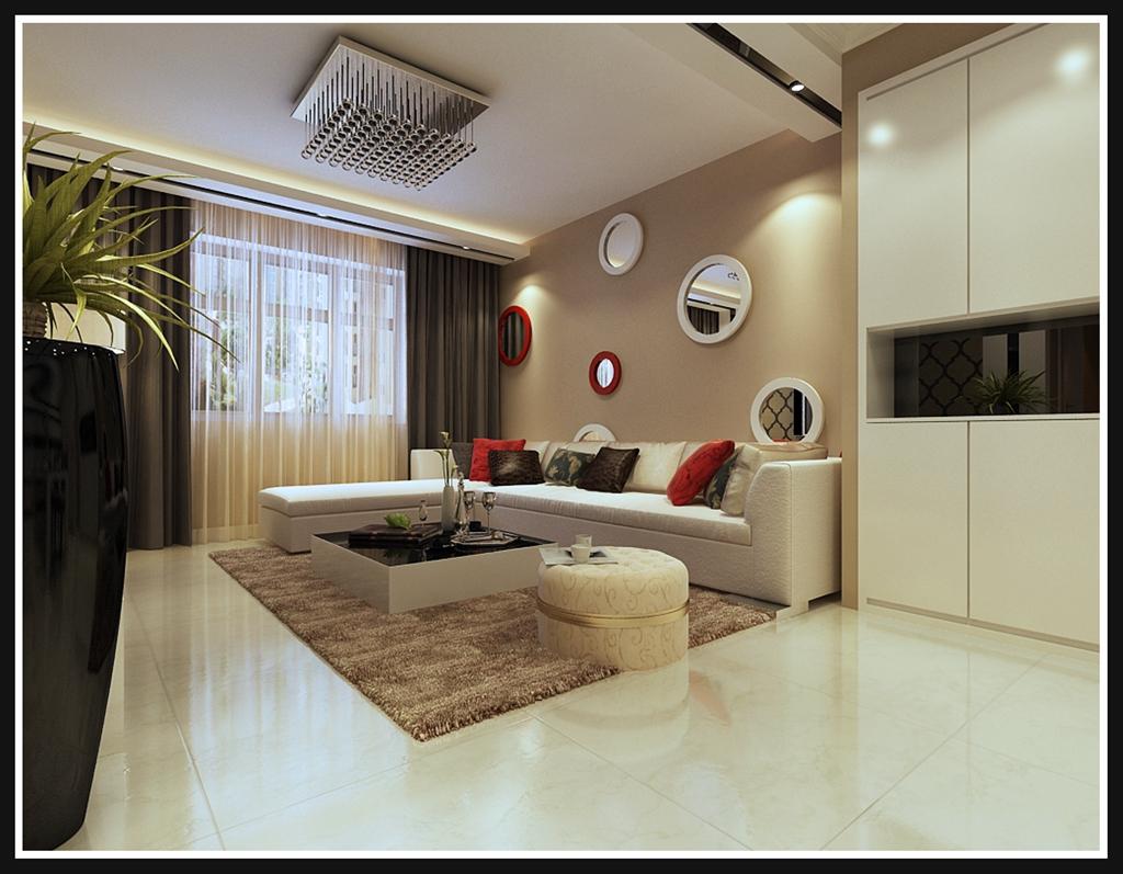 简约 二居 客厅 卧室图片来自北京实创集团在誉天下的分享