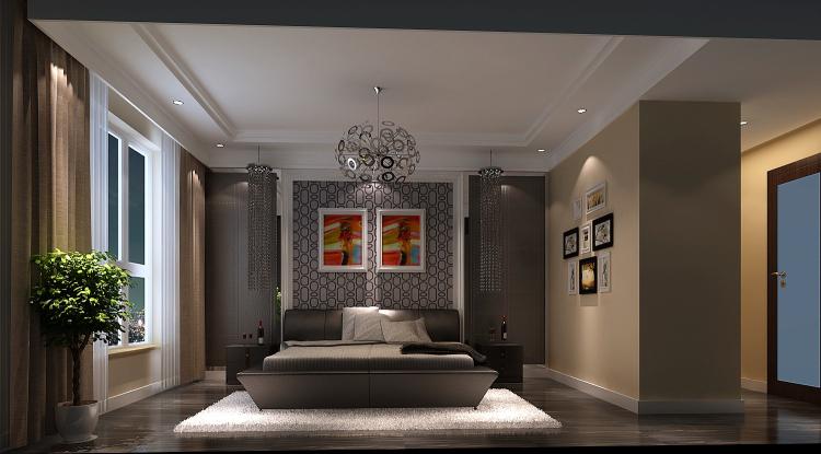 现代 简约 三居 白领 小资 卧室图片来自沙漠雪雨在金隅翡丽152㎡现代简约三室的分享