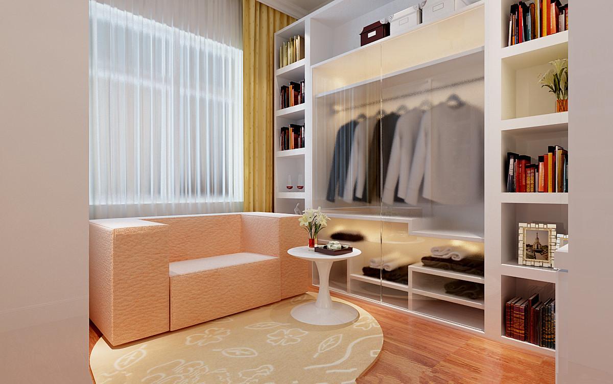 简约 三居 衣帽间图片来自实创装饰上海公司在120平简约明快风格装修的分享