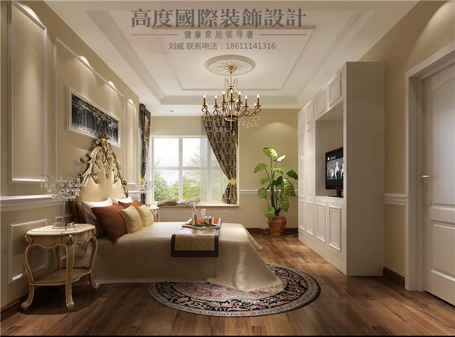三居 简约 欧式 田园 混搭 卧室图片来自高度国际装饰设计刘威在御翠尚府三居简欧风格的分享