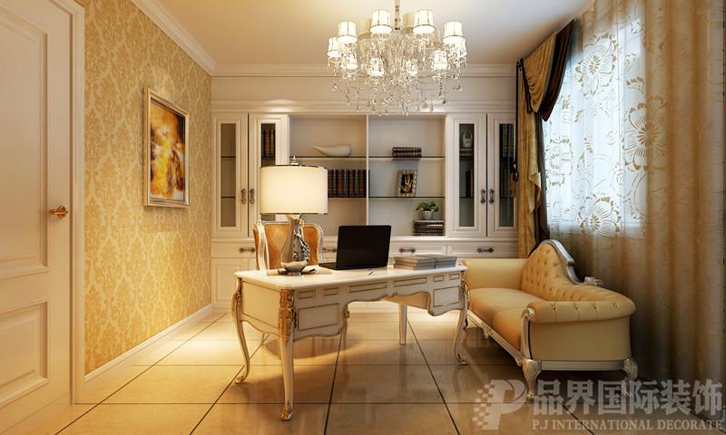 别墅 白领 书房图片来自石家庄品界国际装饰在欧式风格的江南新城的分享