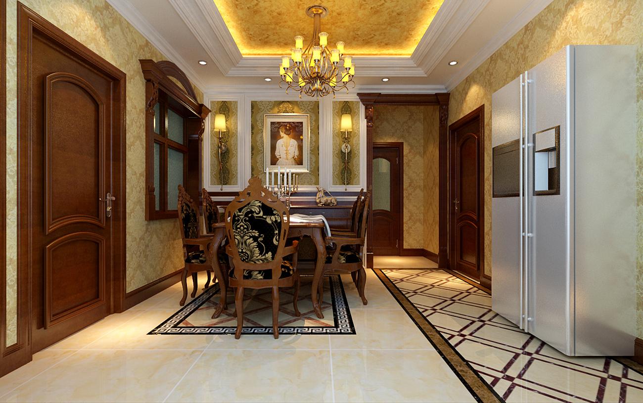 欧式 经典 三居 丽都东镇 小资 餐厅图片来自北京实创装饰集团在150平米三居室的欧式经典的分享