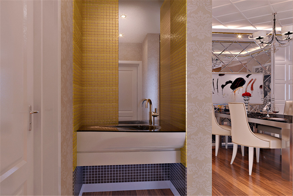 欧式 二居 收纳 其他图片来自上海实创-装修设计效果图在三口之家的奢华欧式风格的分享
