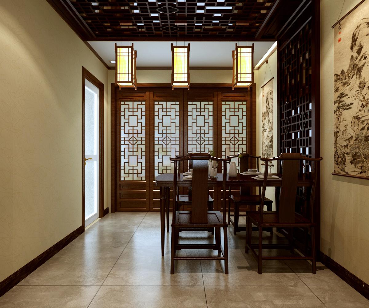 朗汇装饰 新中式 设计师 装修公司 装饰 三居室 文化 餐厅图片来自陕西朗汇装饰在省政府家属院新中式作品赏析的分享