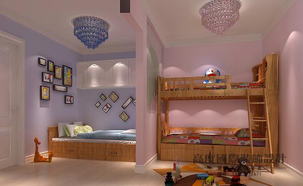 新浪乐居_儿童房由于空间比较小而业主家又有一个男孩一个女孩,设计师 ...