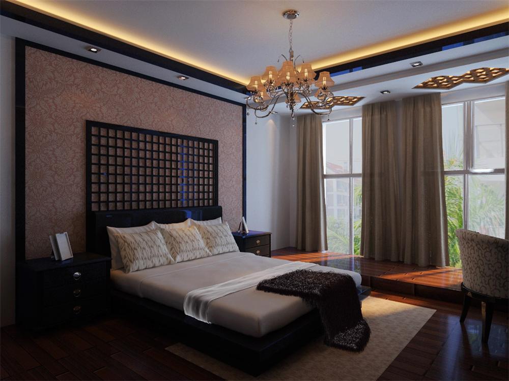 三居 白领 收纳 小资 卧室图片来自实创装饰完美家装在新中式风格塑造太阳星城中国风的分享