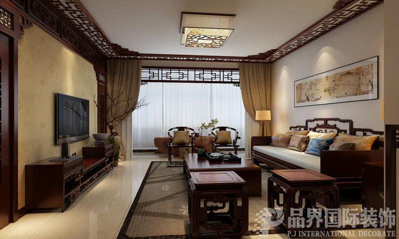 二居 客厅图片来自石家庄品界国际装饰在130平米中式家属院改造的分享