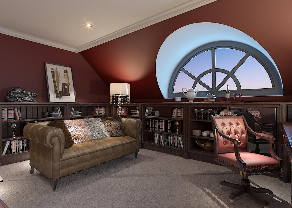 别墅 书房图片来自石家庄品界国际装饰在北京麦卡伦地560平米独栋别墅的分享