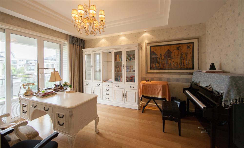 欧式 别墅 装修 奥邦装饰 陆健美 书房图片来自上海奥邦装饰在别墅装修欧式风格实景展示!的分享