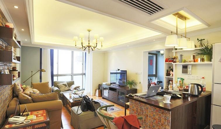 混搭风 地中海混搭 美式混搭 天通苑 80后 旧房改造 小户型装修 客厅图片来自北京今朝装饰在自由混搭---我们自己自由的生活的分享