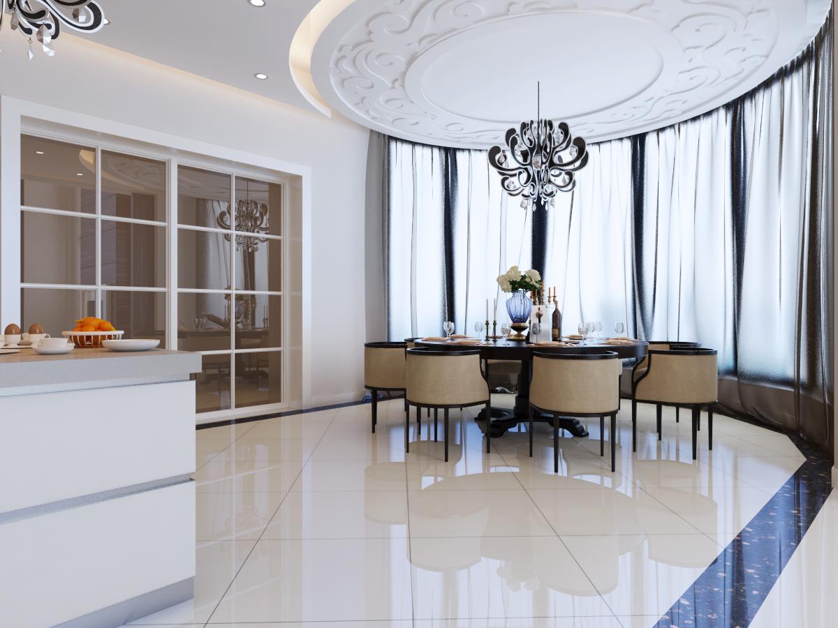新中式 别墅装修 别墅设计 尚层装饰 厨房图片来自尚层别墅装饰在打破了中式风格传统色彩的分享