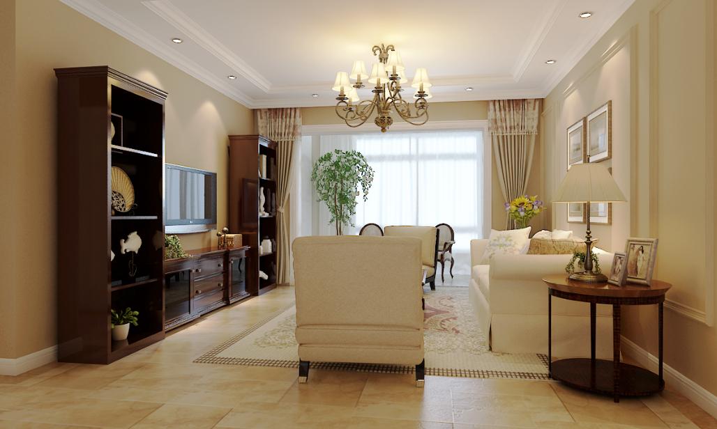 三居 客厅图片来自石家庄品界国际装饰在国赫红珊湾140平美式公馆的分享