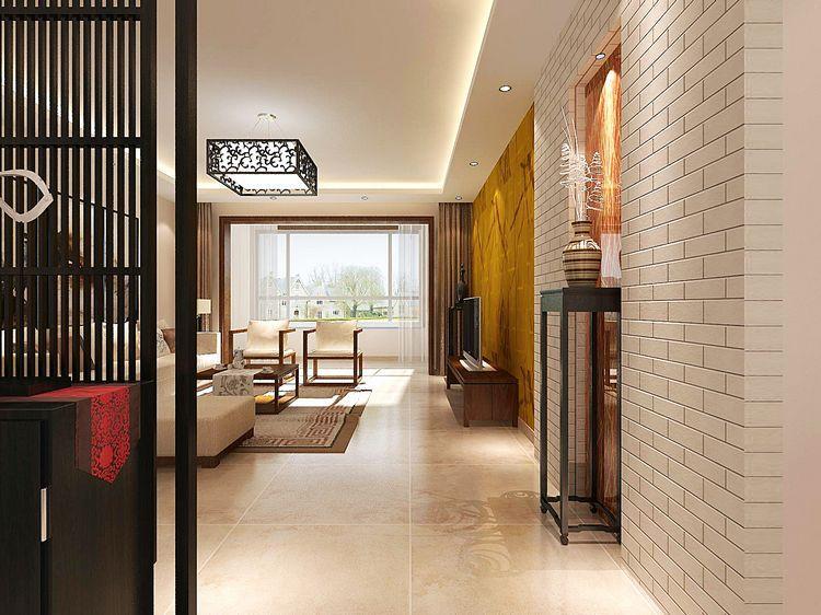 长阳九州 新中式风格 三居 今朝装饰 玄关图片来自北京今朝装饰在长阳九州溪雅苑--新中式风格的分享