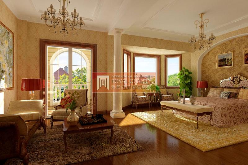 欧式 别墅 优山美地 旧房改造 卧室装修 卧室图片来自赵丹在优山美地的分享