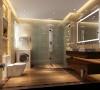 卫生间本身并不大,但是华丽的灯具、镜子、小饰品、再加上欧式的壁纸,整个卫生间自然而然就流露出一种西洋的调子。
